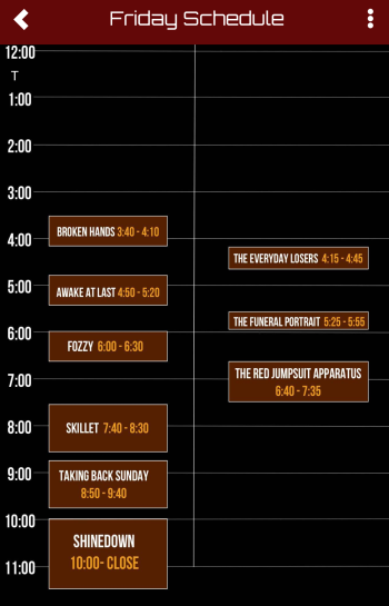Ink 2019 friday sched