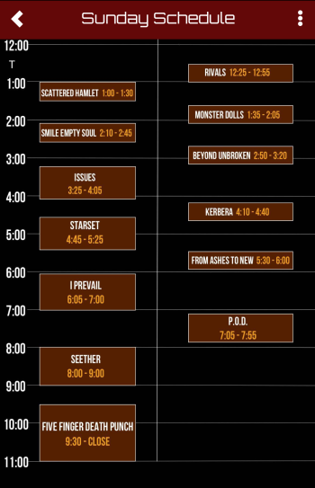 Ink 2019 sunday sched